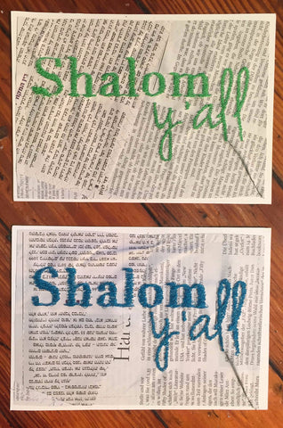 Shalom Y'all Newspaper Wall Art by Old News Design - ModernTribe - 1