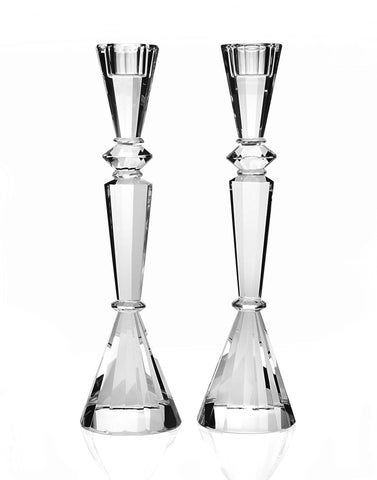 Essex Crystal Shabbat Candlesticks by Other - ModernTribe - 1