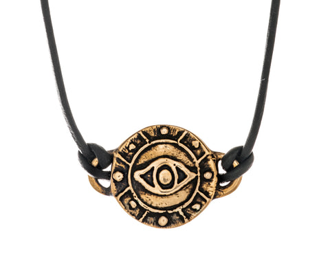 Bronze Eye Medallion Necklace by Marla Studio - ModernTribe