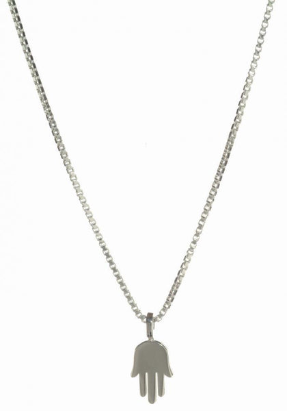 Dainty Silver Hamsa Necklace - ModernTribe