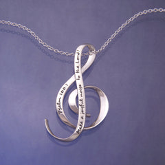 """Make A Joyful Noise"" Sterling Silver Necklace by DVB New York - ModernTribe"