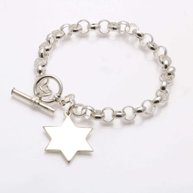 Sterling Silver Star of David Bracelet - ModernTribe