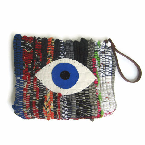 Evil Eye Wristlet Purse by Maslinda Designs - ModernTribe