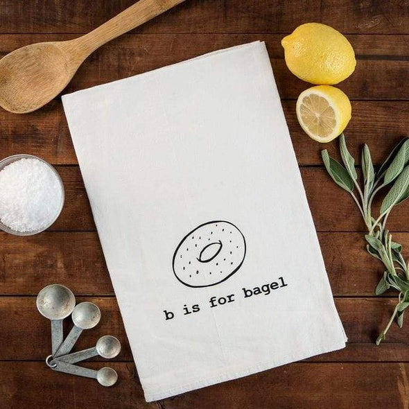 Garbella Tea Towels B is for Bagel Tea Towel