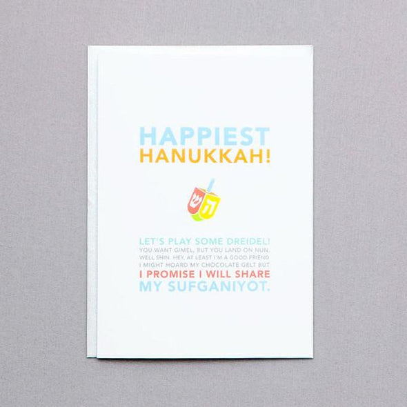 Happiest Hanukkah Card by Ten Four Paper - ModernTribe