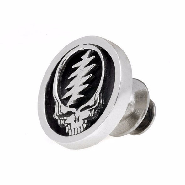 Grateful Dead Steal Your Face Sterling Pin