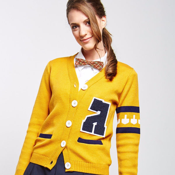 Geltfiend Sweaters Gimmelman Women's Varsity Hanukkah Sweater with Authentic Chenille Letter