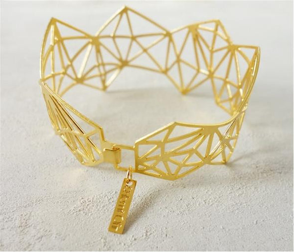 Dimensions Bracelet in Gold by Shlomit Ofir by Shlomit Ofir - ModernTribe - 2