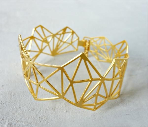 Shlomit Ofir Bracelets Gold Dimensions Bracelet in Gold by Shlomit Ofir