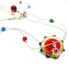 Glass Medallion Star Necklaces by Vashti - ModernTribe - 1