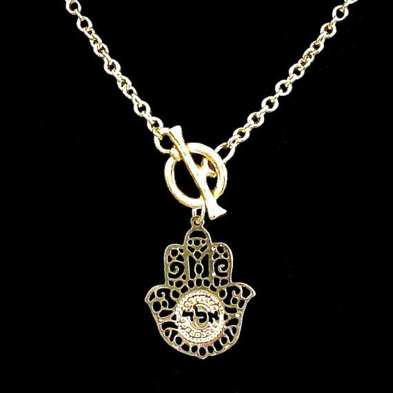 Gold Kabbalah Hamsa Necklace by Keren Peled - ModernTribe