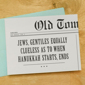 Jews, Gentiles Equally Clueless As To When Hanukkah Starts, Ends! Hanukkah Card by Old Tom Foolery - ModernTribe