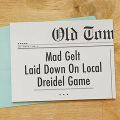 Mad Gelt Laid Down On Local Dreidel Game! Hanukkah Card by Old Tom Foolery - ModernTribe