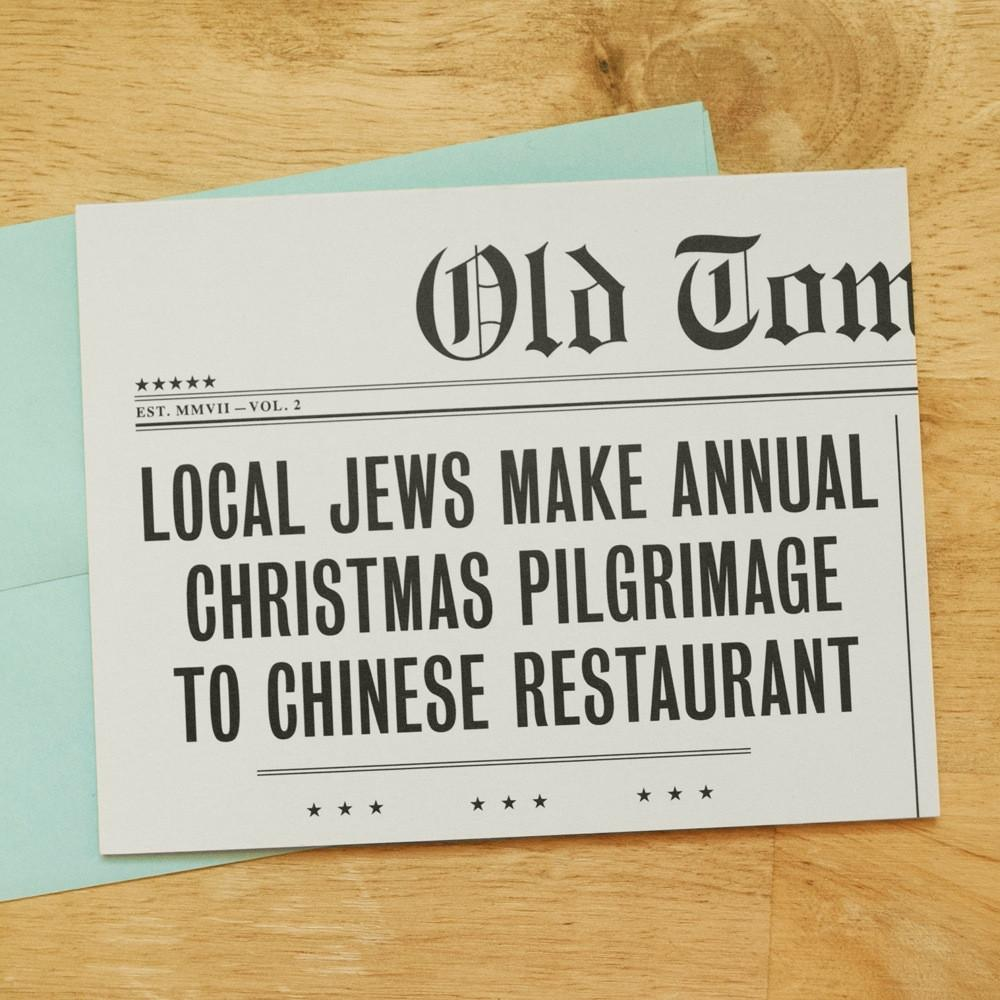Local Jews Make Annual Christmas Pilgrimage To Chinese Restaurant ...