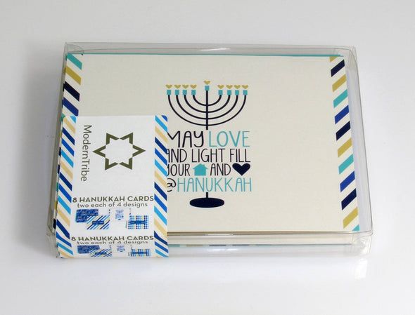 ModernTribe's Light, Joy, Latkes Hanukkah Cards - Set of 8 by ModernTribe - ModernTribe - 4