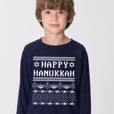 Happy Hanukkah Ugly Hanukkah Sweater-Shirt - Kids - ModernTribe