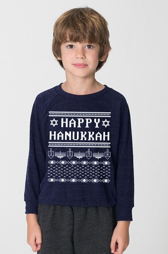 Happy Hanukkah Ugly Hanukkah Sweater-shirt - Kids by Other - ModernTribe - 2
