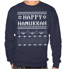 Happy Hanukkah Ugly Hanukkah Sweater-shirt - Men's by Other - ModernTribe - 1