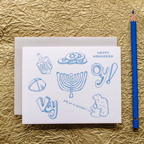 Put on a Sweater Hanukkah Cards - Boxed Set of 8