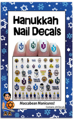 Maccabean Manicures Hanukkah Nail Decals by Midrash Manicures - ModernTribe - 1