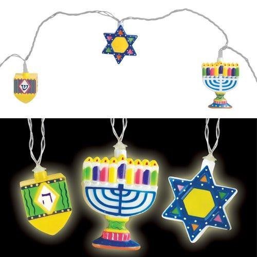 Aviv Judaica Decoration Hanukkah String Lights