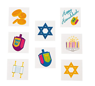 Fun Express Craft Default Hanukkah Tattoos