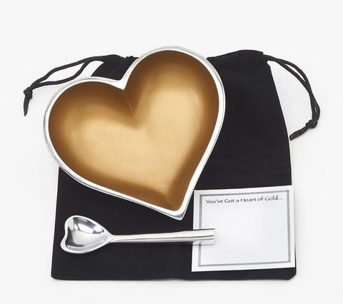 Heart of Gold Dish with Heart Spoon by Inspired Generations - ModernTribe