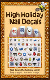 Rosh Hashanah Nail Decals by Midrash Manicures - ModernTribe - 1