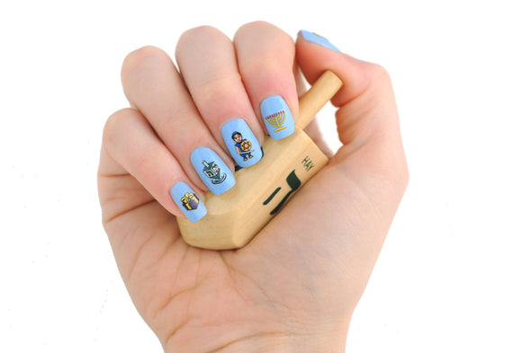 Maccabean Manicures Hanukkah Nail Decals by Midrash Manicures - ModernTribe - 2