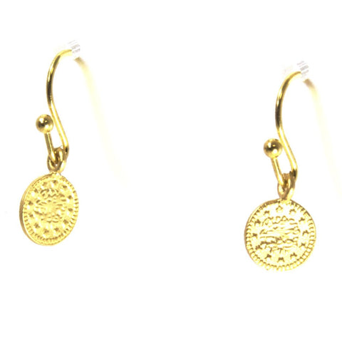Gold Plated Coin Earrings by Throwing Stars Jewelry - ModernTribe - 1