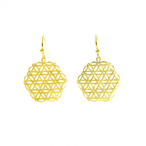 Floral Lace Earrings by Throwing Stars Jewelry - ModernTribe - 1