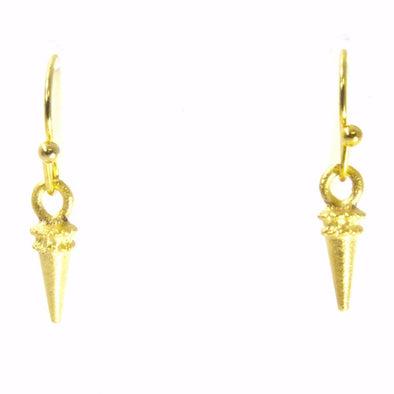 Gold Small Spike Earrings by Throwing Stars Jewelry - ModernTribe - 1