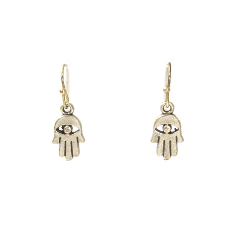 Silver Hamsa Earrings by Throwing Stars Jewelry - ModernTribe - 1