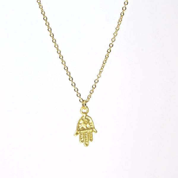 Throwing Stars Jewelry Necklaces Tiny Hamsa Gold Necklace