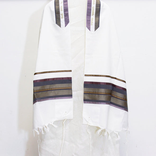 Tallit Set with Lilac and Gold Tones - ModernTribe