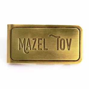Mazel Tov Brass Money Clip by Beehive Handmade - ModernTribe - 1