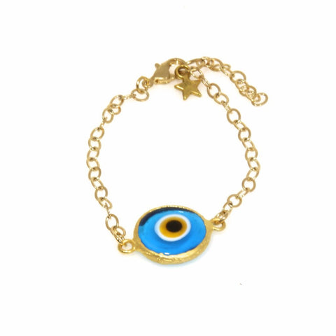 Turquoise Evil Eye Bracelet by Throwing Stars Jewelry - ModernTribe - 1