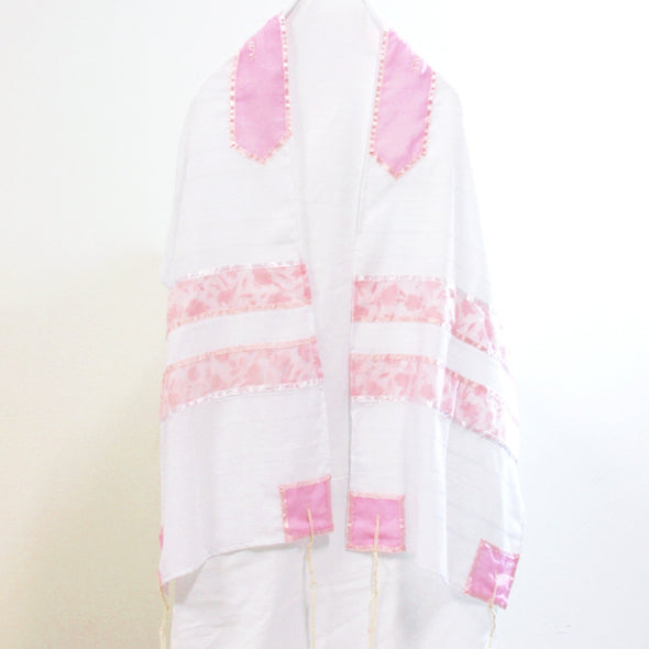Handmade Tallit Set in Pink by CJ Art - ModernTribe - 2