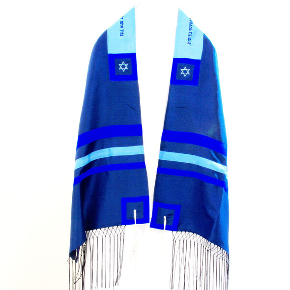 Israsilk Blue Tallit Set by Zion Tallis - ModernTribe - 3