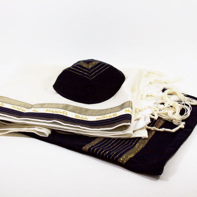 Tallit Set in Brown and Gold by Temple Tallit - ModernTribe - 1