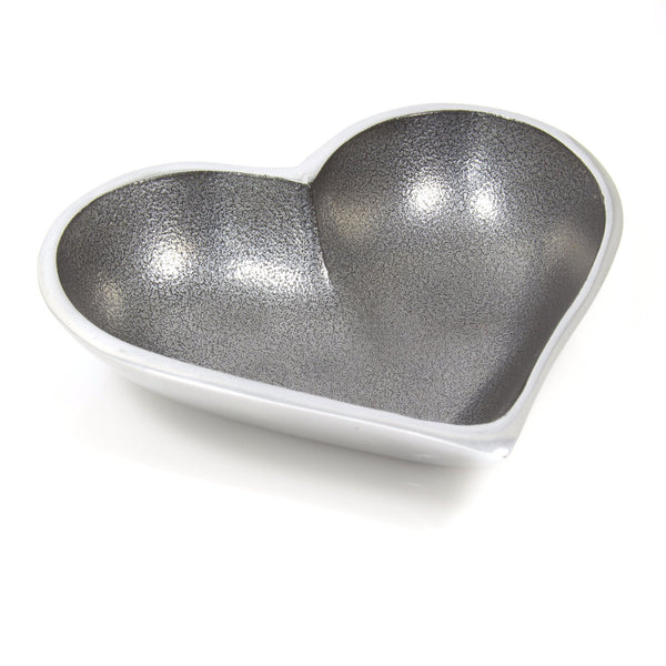 Inspired Generations Bowl Small Silver Heart Bowl
