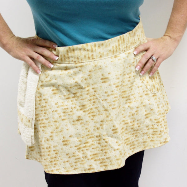 Davida Aprons Matzah Apron Skirt With Dish Towel