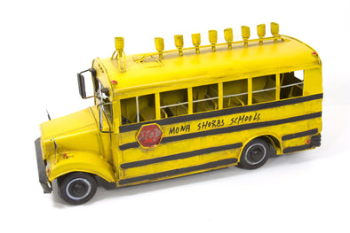 Antique Metal School Bus Menorah by Copa Judaica - ModernTribe - 5