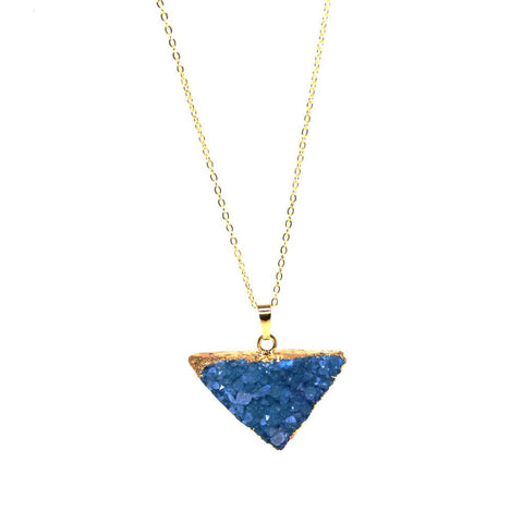 Light Teal Druzy Necklace by Nesoi Collection - ModernTribe