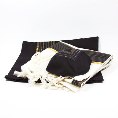 Tallit Set in Gold and Bronze by Temple Tallit - ModernTribe - 1