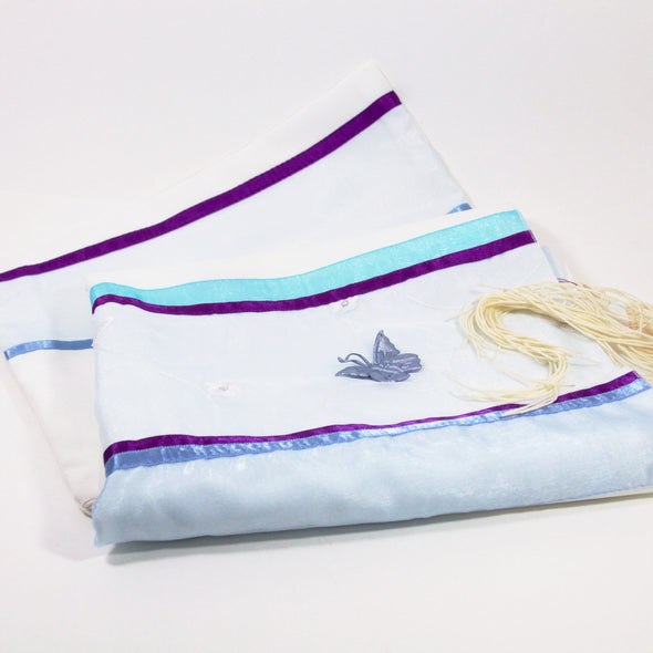 Tallit with Embroidered Butterfly Detail - ModernTribe