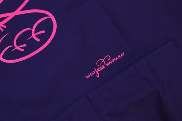 Challah Back Apron - Purple and Pink