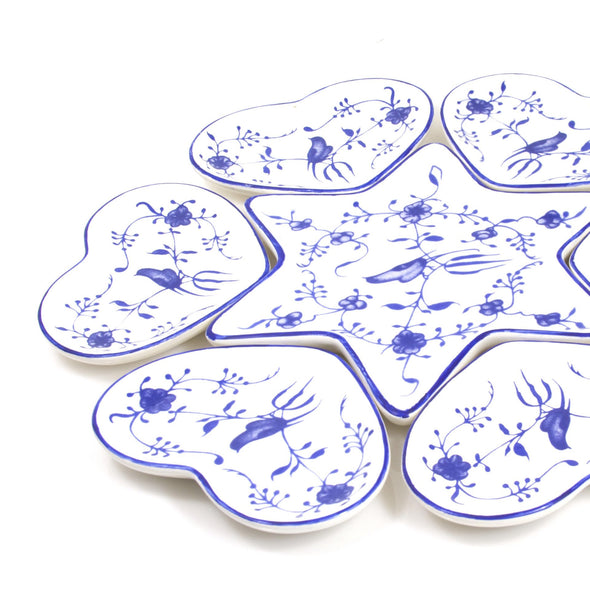 Ceramic Seder Plate With Heart Dishes by Apex - ModernTribe - 1