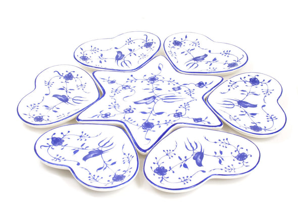 Ceramic Seder Plate With Heart Dishes - ModernTribe