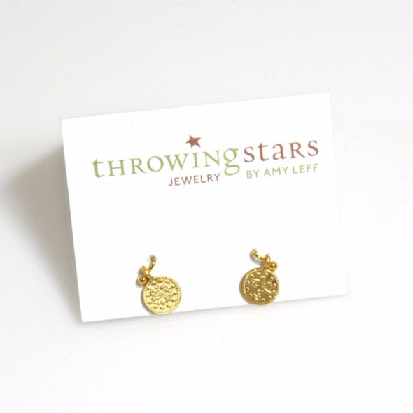 Gold Plated Coin Earrings - ModernTribe